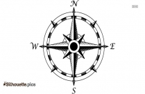 Compass North Silhouette Clip Art For Free