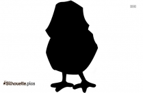 Cute Baby Chick Silhouette Clip Art