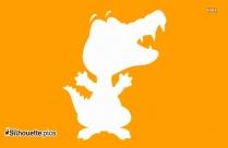 Cartoon Baby Monkey ClipArt, Silhouette
