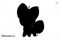 Free Cartoon Baby Fox Silhouette