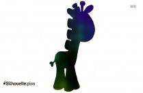 Cartoon Baby Giraffe Silhouette Image