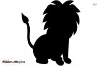 Cartoon Baby Lion Silhouette Clip Art
