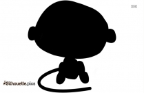 Cartoon Baby Monkey ClipArt, Silhouette