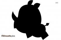 Baby Rhino Black And White Silhouette