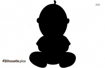 Cartoon Boss Baby Character Silhouette