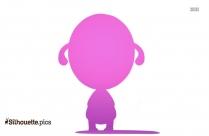Cartoon Baby Silhouette Clipart