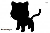 Baby Tiger Cub Silhouette Clip Art