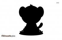 Baby Rhino Sitting Silhouette