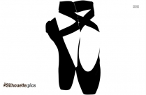 Cartoon Ballet Shoes Clipart Silhouette