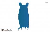 Cartoon Barn Owl Silhouette Vector