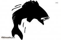 Cartoon Halibut Fish Silhouette