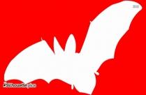 Flying Bat Symbol Silhouette