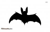 Cartoon Bat Silhouette Icon
