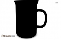 Cartoon Beaker Mug Silhouette