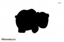 Polar Bear Silhouette Illustration