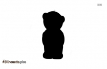 Black Piglet Silhouette Image