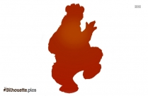 Cute Bear Silhouette Image And Vector