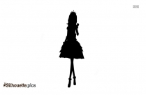 Cartoon Fairy Dress Silhouette