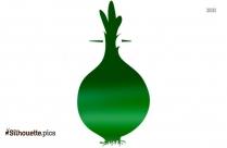 Happy Cartoon Pumpkin Silhouette Free Vector Art