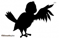 Cartoon Bluebird Silhouette Drawing