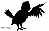 Cartoon Bird Flying Silhouette Image And Vector