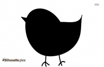 Cute Baby Duck Silhouette Image