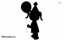 Funny Pushing Silhouette Clip Art