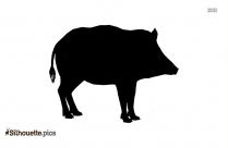 Cartoon Pig Symbol Silhouette