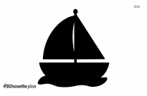 Black And White Yacht Silhouette