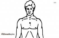 Cartoon Body Part Back Silhouette Illustration