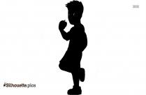 Cartoon Boy Silhouette Vector Picture