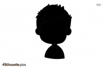 Black Boy Running Silhouette Image