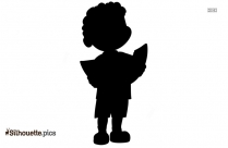 Black And White Boy Studying Silhouette
