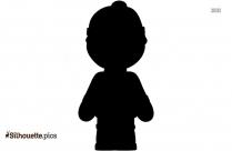 Black Cartoon Anime Boy Silhouette Image