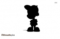 Free Cartoon Happy Person Silhouette