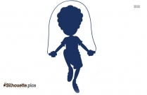 Boy Pointing Silhouette Image