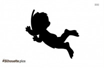 Little Cartoon Guy Silhouette Image And Vector