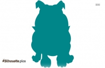 Dog Standing Silhouette Image