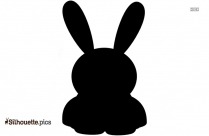 Cute Bunny Silhouette Image
