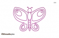 Cute Butterfly Design Silhouette Image
