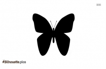 Cartoon Butterfly Silhouette, Cute Fly Clipart