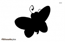 Black And White Butterfly Cartoon Silhouette