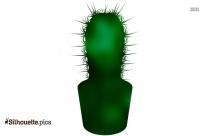 Cartoon Cacti Silhouette
