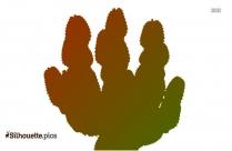 Cartoon Cactus Silhouette Clipart