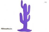 Cartoon Cactus Silhouette Image And Vector
