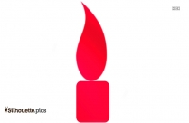 Cartoon Candle Silhouette