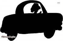 Cartoon Racing Car Silhouette