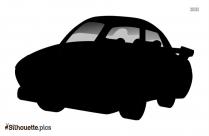 Cartoon Car Silhouette Clipart Vector