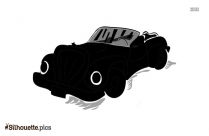 Cartoon Car Silhouette Illustration