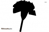 Black And White Hawaiian Flower Silhouette
